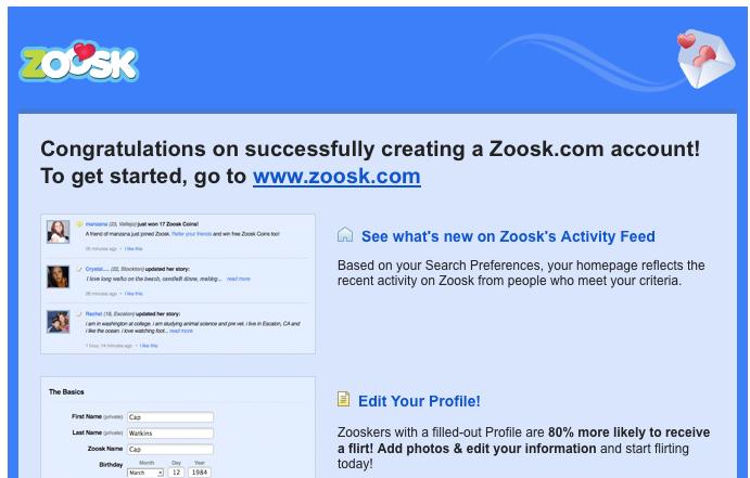 Zoosk wont let me sign in
