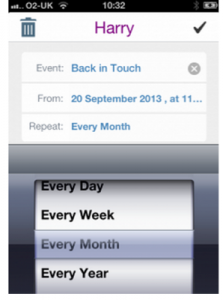 Back in touch App