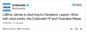 Cottonelle Tweet