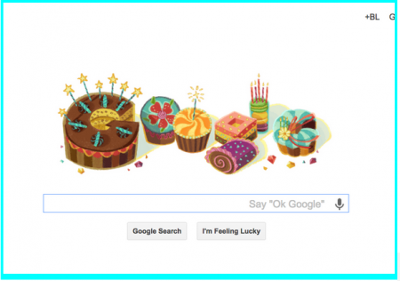 GoogleBirthday Cartoon