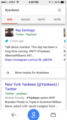Result of search on Yankees