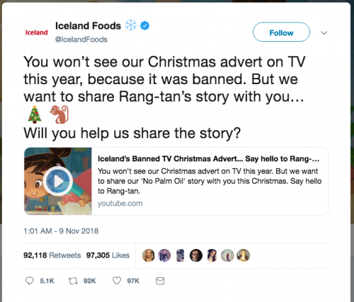 Iceland Foods Banned Christmas Ad